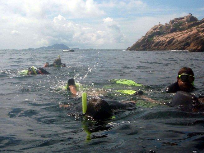 Buceo en isla Mata-Fome de Florianópolis