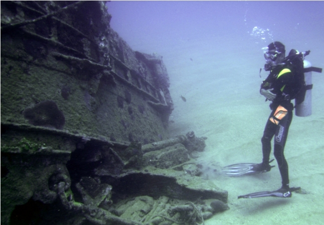 Buceo de naufragio en Maceió