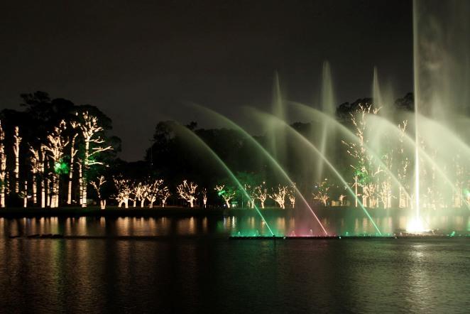 Parque Ibirapuera de noche