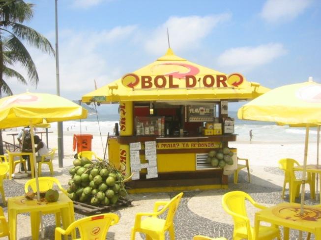 Kiosco de la playa de Río de Janeiro