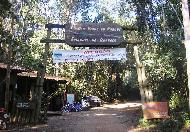 Entrada al parque de Ilhabela