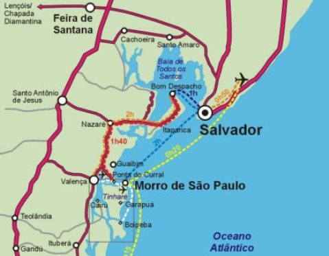 Cómo llegar a Morro de San Pablo?
