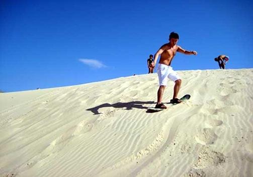Sandboard en Playa dos Ingleses
