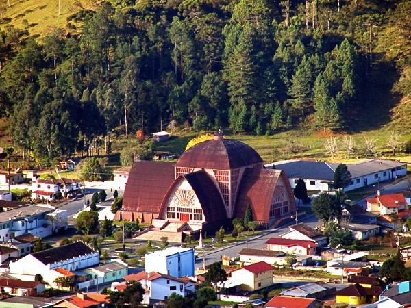 Vista de la ciudad de Urubici, Santa Catarina