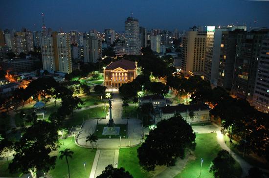 Praça da República y Teatro da Paz en Belém