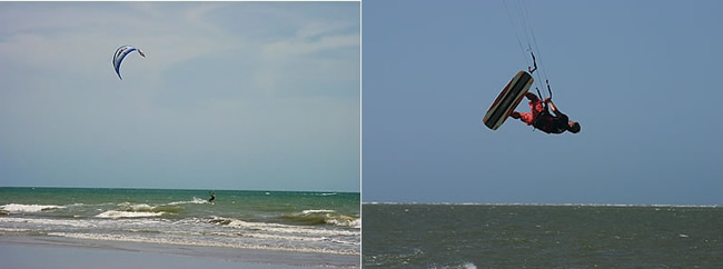 Algunos spots para la práctica del kitesurf