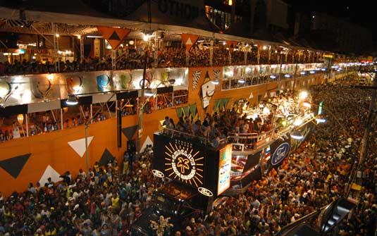 Camarotes en el Carnaval de Bahía