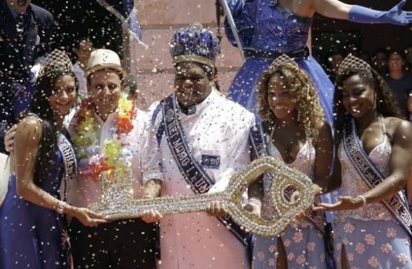 Rey Momo en el Carnaval de Rio de Janeiro