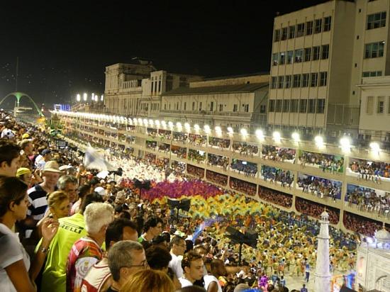 El Sambódromo en el Caranavl de Rio