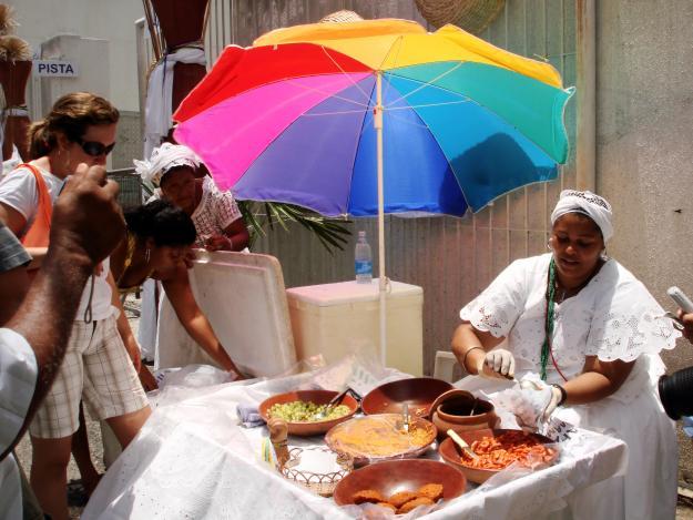 Bahianas da acarajé en Salvador de Bahía