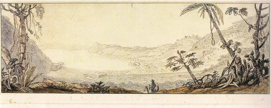 Historia de Ilhabela: ilustración de la villa en 1827