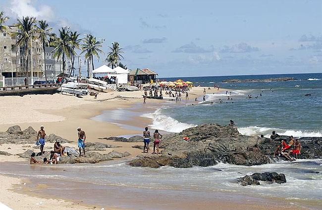 Playa Amaralina en Salvador de Bahia