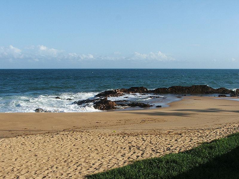 Praia do Jardim dos Namorados en Salvador de Bahía