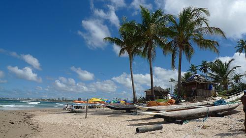 Playa de Itapuã en Salvador de Bahía