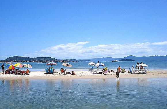 Playas en el norte de Florianópolis: Ponta das Canas