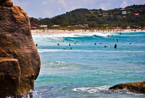 Playas en el Oeste de Florianópolis: Cacupé