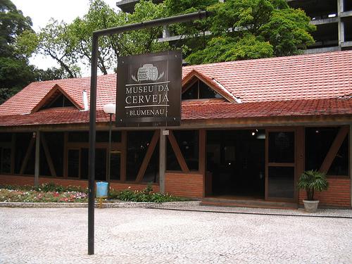 Museos de Blumenau. Frente del Museo de la Cerveza.